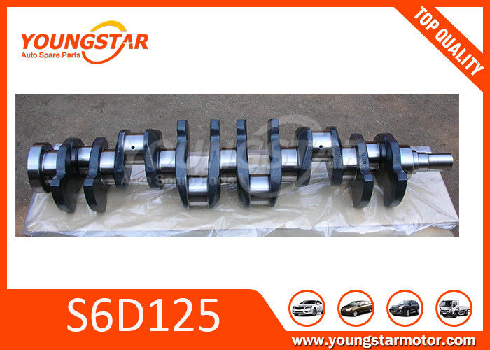 Forged Steel vehicle crankshaft For KOMATSU S6D125  6151-31-1110
